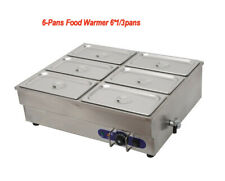 Steam Table Food Warmer Buffet 6 Pans Steamer Restaurant 110V 1.5Kw Easy to Use