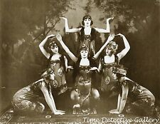 Flapper Snake Charmers - 1920s - Historic Photo Print