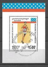 Jeux Olympiques d' été Cambodge (48) bloc oblitéré