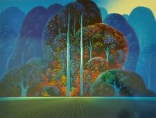 "Eyvind Earle ""SOFTENING SHADES OF TWILIGHT"" Hand signed numbered Serigraph 1993"