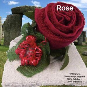 Handtuch Geschenk Figur Rose Gästetuch Gastgeschenk Hochzeit Geburtstag Ostern