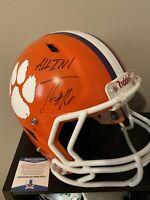 TREVOR LAWRENCE Autographed Signed F/S Custom Clemson Tigers Helmet BAS Beckett
