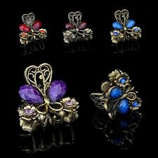 Gifts Retro Vintage Jewelry Mini Butterfly Hair Clip Resin Hairpins Claw