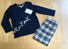 The Little White Company 🦌 Applique Reindeer Pyjamas, Age 18-24 Months - NWT