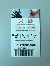 Collezionisti used TICKET Supercoppa 2018 Concordia Francoforte FC Bayern München 12.08.18