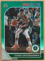 2019-20 Panini NBA Hoops Premium Stock Giannis Antetokounmpo Green Prizm #102