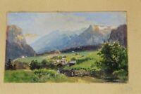 Edward Harrison Compton - Miniatur Malerei - Aquarell ca. 9x5,5 cm. gerahmt /S9