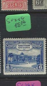 BRITISH GUIANA  (P2501BB)  KGV  6 C CENT  SG 286        MOG