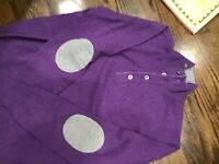 Della Ciana Luxury Made In Italy Cashmere/wool Mens Purple Sweater Size 52