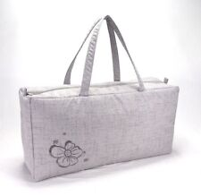 Knitting Bag Wool / Yarn / Craft Storage Bag Ex Large with Embroided Flower