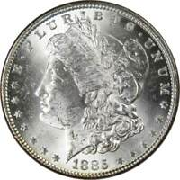 1885 $1 Morgan Silver Dollar US Coin Uncirculated Mint State