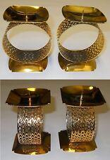 Timo Sarpaneva Vintage Tsaikka Gold Candlesticks Candleholders Iittala Finland