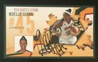 NOELLE QUINN WNBA Seattle Storm Autographed Signed 4x6 Photo