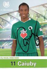 Caiuby   VFL Wolfsburg  Fußball  Autogrammkarte  signiert 354184