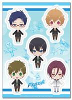 **Legit** Free Iwatobi Swim Club Uniform Characters Authentic Sticker Set #55510