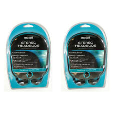 Lot of 2 Maxell HB-202 Stereo In Ear Neckband Headphones 190317 for CD, MP3