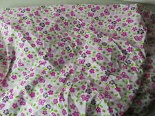 Lambs and Ivy Pink Butterflies Flowers Green Leaves Crib Sheet Hardly Used VGC