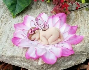 Baby Fairy/ Cake Topper /Flower Fairy/ Fairy Figurine/Collectable/Fairy Garden