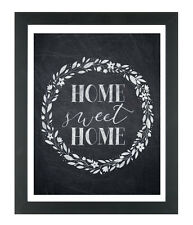 Inspirational Home Sweet Home Quote Print Poster For Walls Home Interior A4