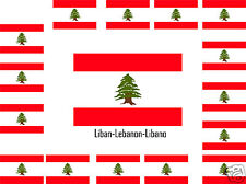 Assortiment lot de 25 autocollants Vinyle stickers drapeau Liban-Lebanon-Libano
