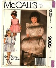 McCall's Sewing Pattern Girl's PINAFORE DRESS 9085 Little House on Prairie 4 UC