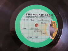 "THE PSYCHEDELIC FURS Sister Europe / **** RARE 10"" SOUND CLINIC STUDIOS ACETATE"
