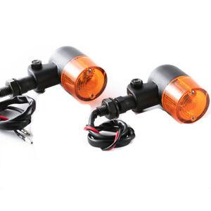 Motorcycle 12V Amber Turn Signal Brake Light 10mm For Harley Honda Kawasaki BMW