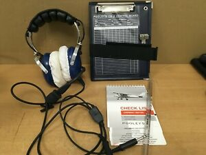 Pooleys Pilots Pooleys Aviation Headset Blue With Pooleys Cb-3 Control Board