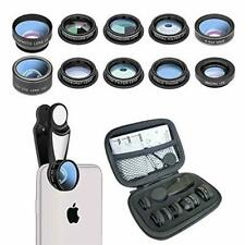 Phone Camera Lens 10 in 1 Cell Phone Lens Kit Macro Lens for iPhone and Android