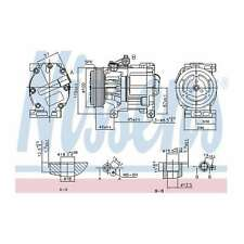 Fits Fiat Panda 0.9 4x4 Genuine OE Quality Nissens A/C Air Con Compressor