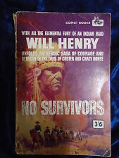 NO SURVIVORS by WILL HENRY - CORGI BOOKS 1960 *P/B* UK POST £3.25