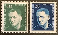 East Germany. Bertolt Brecht Stamp Set. SGE332/33. 1957. MNH. (J144)