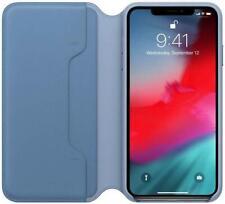 Genuine iPhone XS Max Leather Folio Case Cover - Cornflower Blue - New