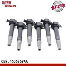 Set of 6 Ignition Coils For C1522 UF502 2006-2010 Chrysler Dodge 4.0L 2.7L 3.5L