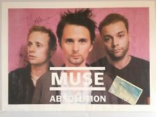 Tres rare concert poster + ticket muse // absolution // sign