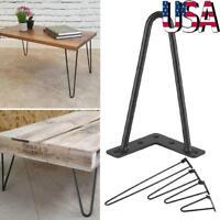 """4x 8"""" 12"""" 16"""" 28"""" DIY Hairpin Table Legs Set Kitchen Dining Table Desk Leg Metal"""