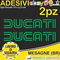 2 Adesivi Stickers DUCATI OLD panigale 848 1098 999 749 916 998 748 996 VERDE