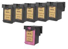 Printenviro HP 60XL 5 Black CC641W & 1 Color CC644W  Reman Ink Cartridges D2560