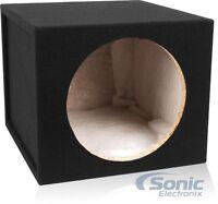 "Belva 1.5 Cu Ft Single 12"" Sealed Car Subwoofer Enclosure 3/4"" MDF Box w/Polyfil"