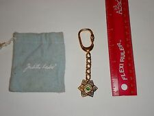 """RARE"" JUDITH LEIBER GOLD TONE STAR KEY RING CHAIN SWAROVSKI CRYSTALS"