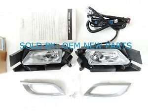 New OEM 2010-2011 Mazda 3 I Sedan Fog Light Lamp Kit Left & Right Complete