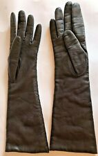 New listing Vintage Long Brown Leather Kid? Gloves Made in France by Kislav Lined Size 6.5