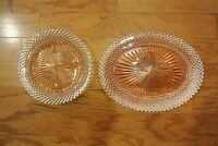 """Anchor Hocking Pink Glass """"Miss America"""" 4 Part Relish Dish & Oval Platter"""