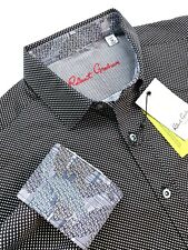 Robert Graham Geometric Camouflage Patchwork Pattern Long Sleeve Shirt