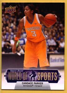 2011 Upper Deck World Of Sports Candace Parker #63 WNBA