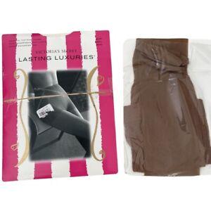 NIP Victoria's Secret Size Small Lasting Luxuries Control Top Pantyhose Buff