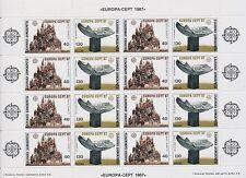 "1987 EUROPA CEPT Grecia Hoja bloque ""Arquitectura Moderna"" MNH"