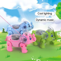 Electric Walking Singing Musical Light Elephant Toy Interactive Baby Kids Gifts