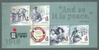 Australia- Centenary of World War I-2018 mnh min sheet - military