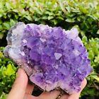 701g+Quartz+crystal+mineral+specimen+of+top+natural+amethyst+cluster++FL5686
